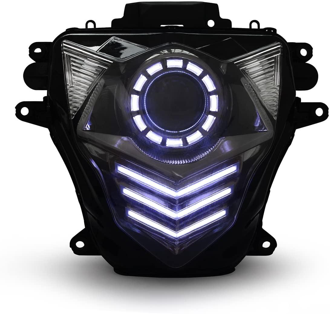 KT LED Headlight Assembly for Suzuki GSXR600 GSX-R600 2011-2019 V2 White DRL