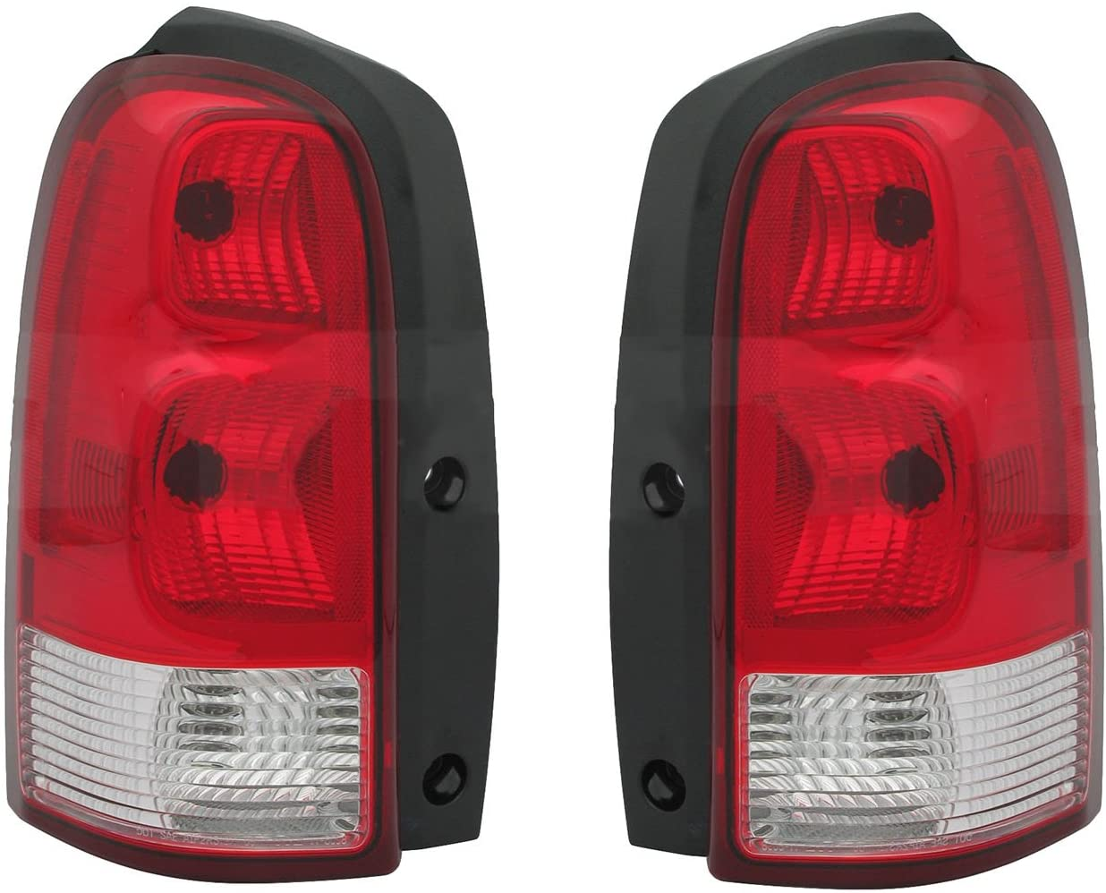 Rareelectrical NEW PAIR OF TAIL LIGHTS COMPATIBLE WITH CHEVROLET UPLANDER 2005-2009 GM2801183 GM2800183 15787131 15787132