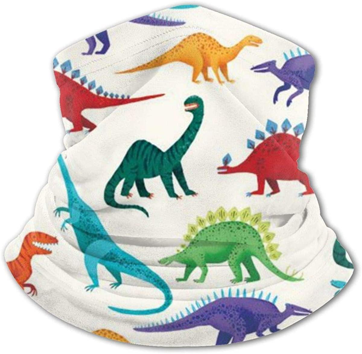 Prehistoric Dinosaur Cartoon Headwear For Girls And Boys, Head Wrap, Neck Gaiter, Headband, Tenn Fishing Mask, Magic Scarf, Tube Mask, Face Bandana Mask For Camping Running Cycling