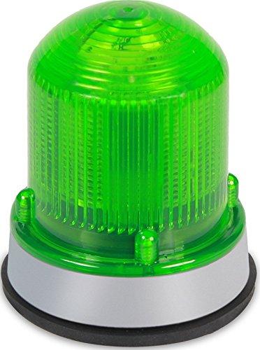 Edwards Signaling 125XBRMG120A Xtra-Brite LED Multi-Mode Beacon, Steady-On/Flashing, 120V AC, Gray Base, Green