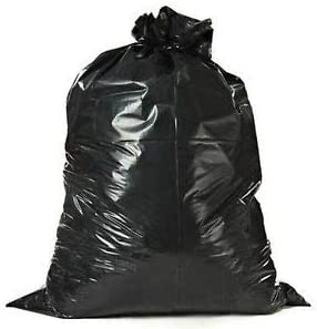 "MightyPlastic Contractor Trash Bag | 45 Gallon | Extra Thick 3.2 mil | Black| Large Heavy Duty | Anti Puncture Garbage Bags (39"" x 46"" – 48 Count)"