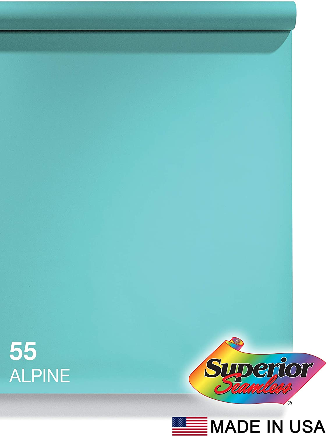 Superior Seamless Photography Background Paper, 55 Alpine (53 inches Wide x 18 feet Long)