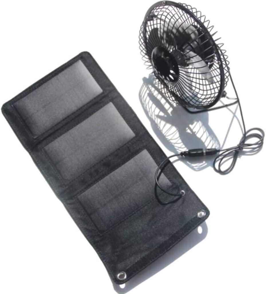 QINWEI Solar Charging Board, 6 inch USB Solar Fan -5W Solar Folding Bag Mobile Phone Charger - Mobile Power Outdoor Equipment