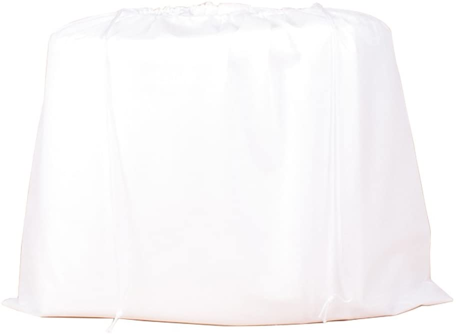 2 Pieces Dust Bags for Handbags Non-Woven Breathable Dust-Proof Drawstring Storage Pouch (White)