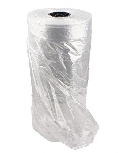 "NAHANCO X336, Plastic Poly Garment Bags, 1/2 Mil, Clear, 36""H x 21""W x 3""D, Roll of 999"