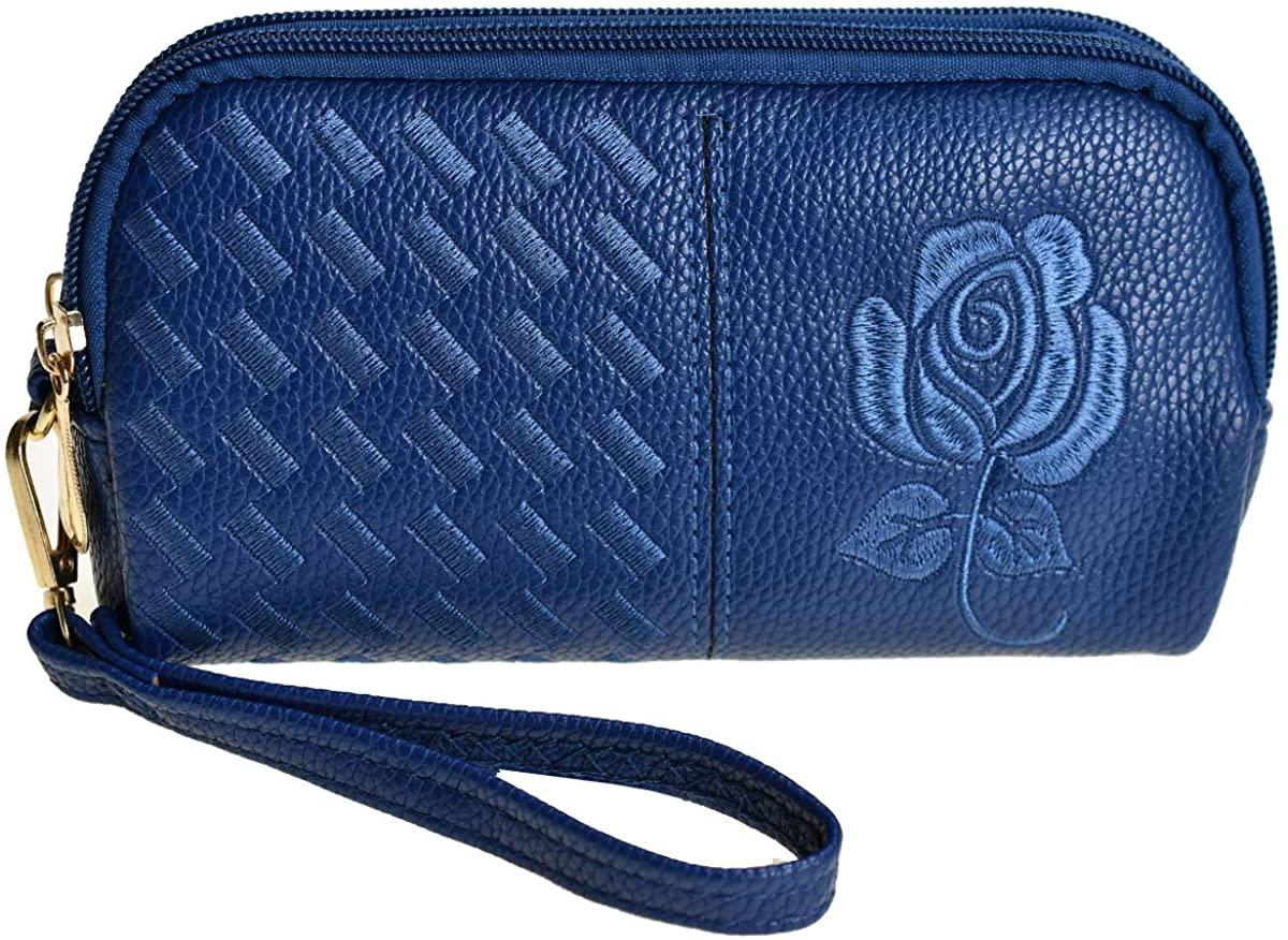 Wristlet Wallet for Women, Leather Wristlets Phone Purse Clutch for iphone 6/7/8Plus XR
