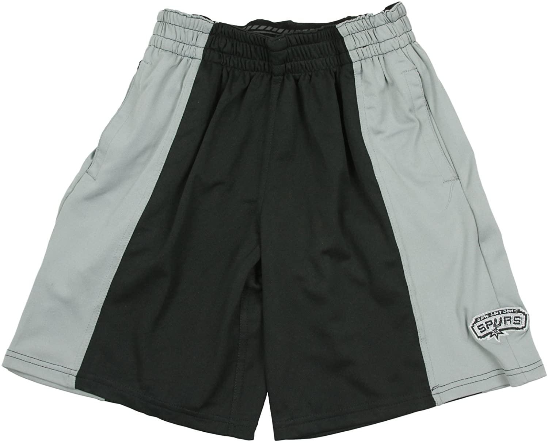 San Antonio Spurs NBA Big Boy's Black and Grey Mesh Shorts