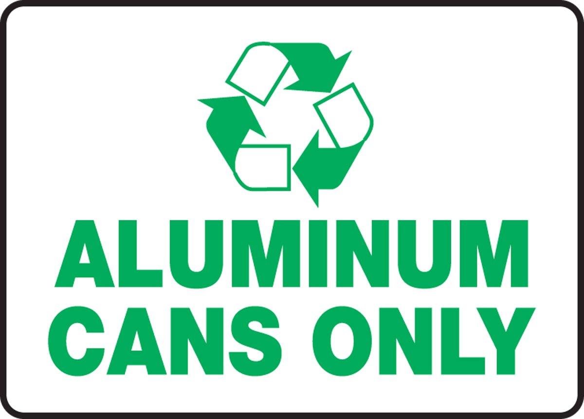 Accuform MPLR534XT Dura-Plastic Recycle Sign, Legend