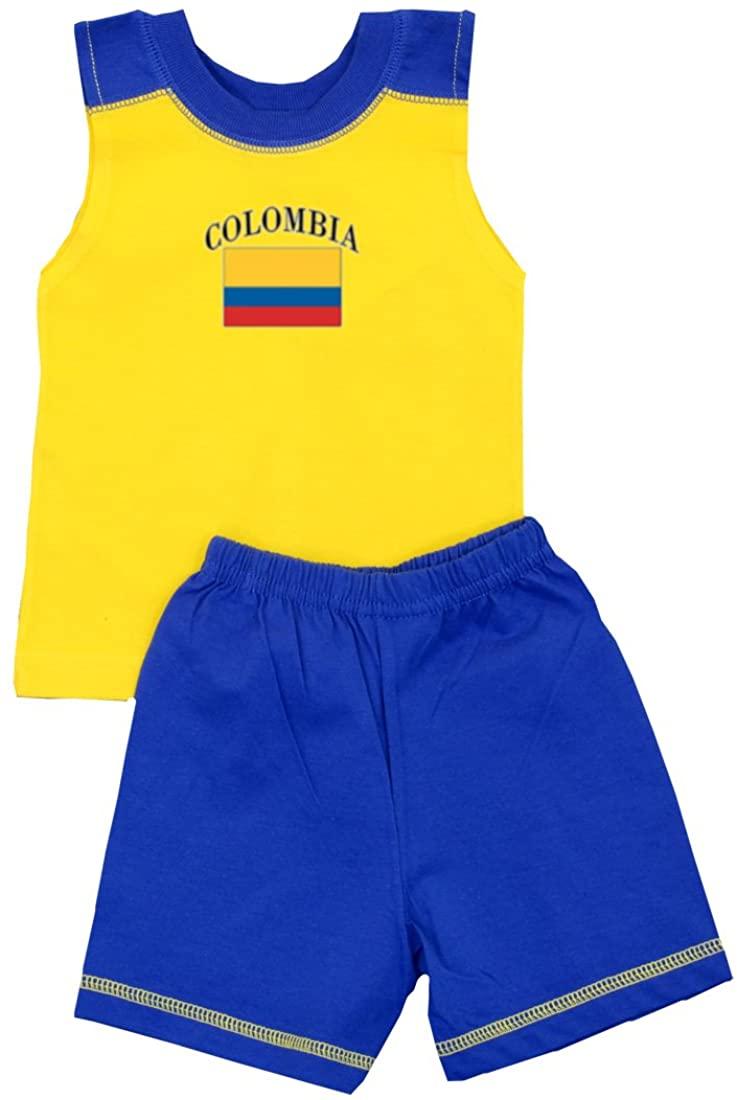 Pam GM Little Boys Colombia Soccer Set - Short Sleeve T Shirt & Shorts