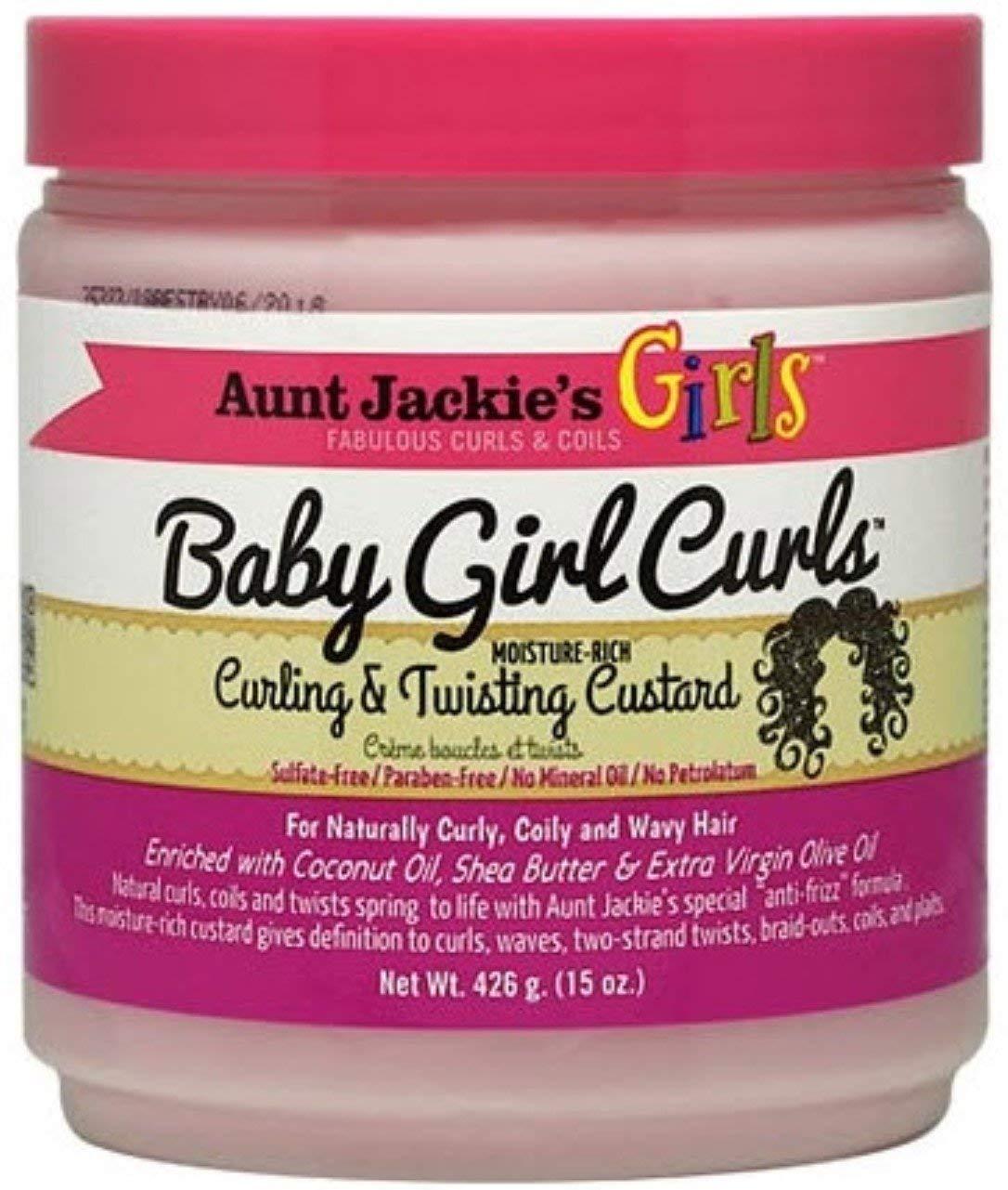 Aunt Jackie's Girls Baby Girl Curls Curling & Twisting Custard, 15 oz (Pack of 2)