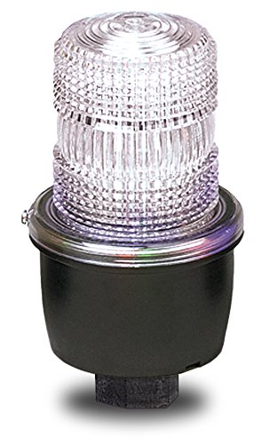 Federal Signal LP3PL-024C Streamline Low Profile Steady Burning LED Light, Pipe Mount, 24 VDC, Clear