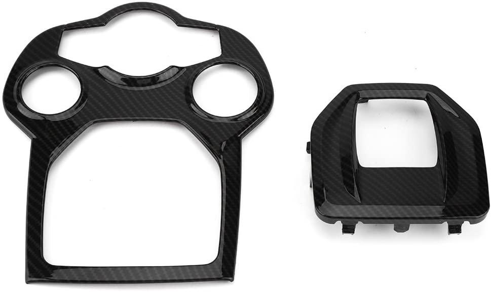Qiilu Car Interior Central Conole Control Panel Frame Cover Trim for Alfa Romeo Giulia/Stelvio