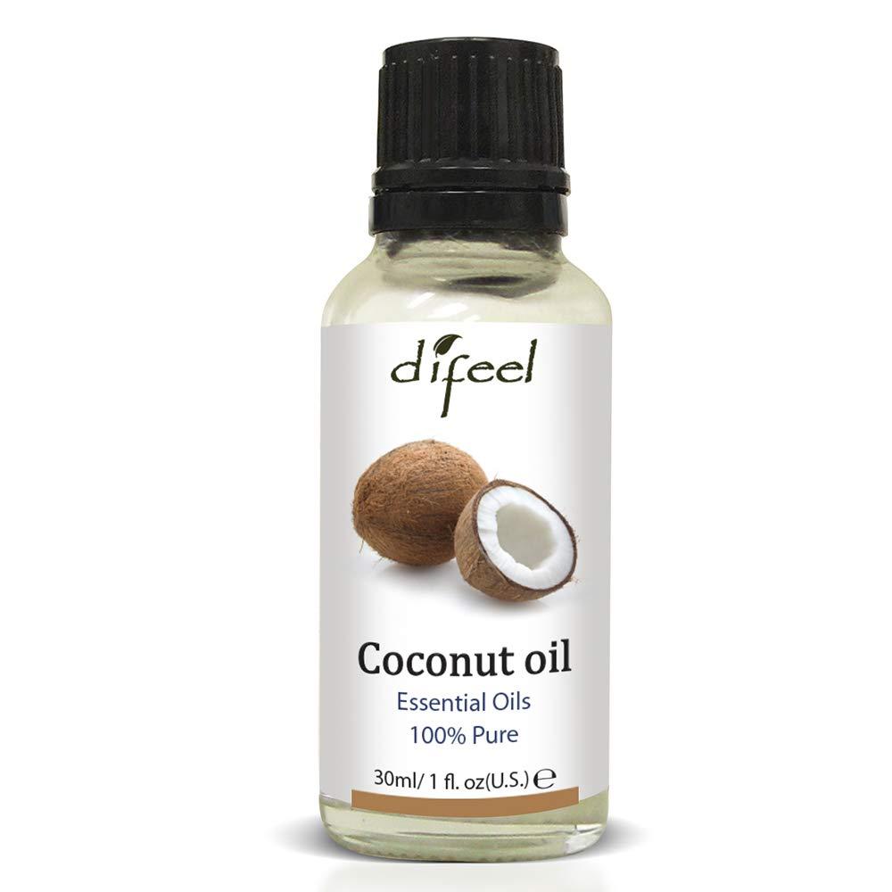 Difeel Essential Oils 100% Pure Premium Grade Coconut Oil 1 Ounce 3-Pack