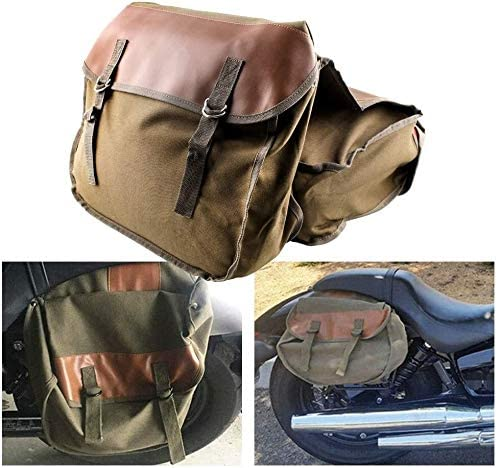 QYA Motorcycle Bag Saddlebag Travel Knight Rider for Waterproof Saddle Bag for Triumph Bonneville Sturdy Material