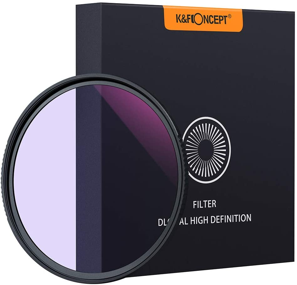 K&F Concept 52mm Clear-Night Filter Multiple Layer Nano Coating Pollution Reduction for Night Sky/Star