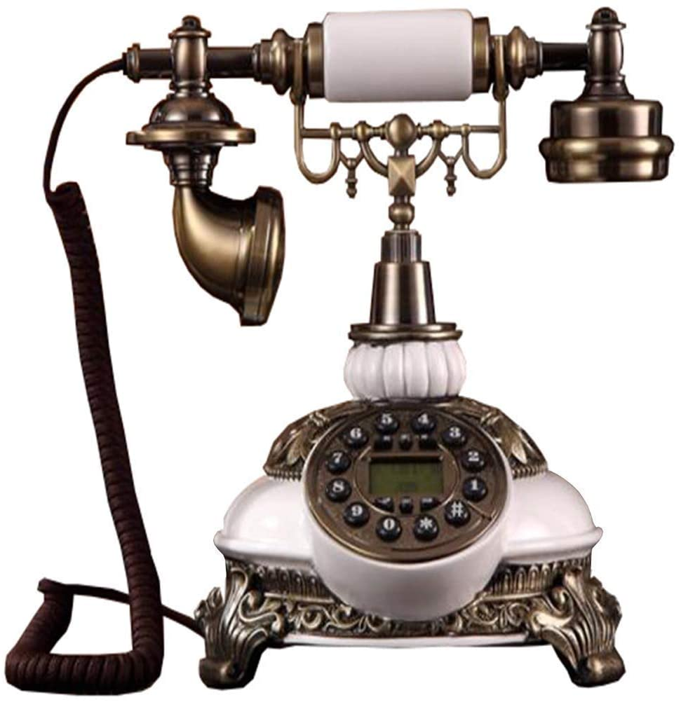 HWZSZSH Antique Retro Western Style Telephone Fashionable Corded Phone Vintage Telephone Wall Mounted Phone with Numbers Storage & Rotary Dial Function for Home Classic Decoration