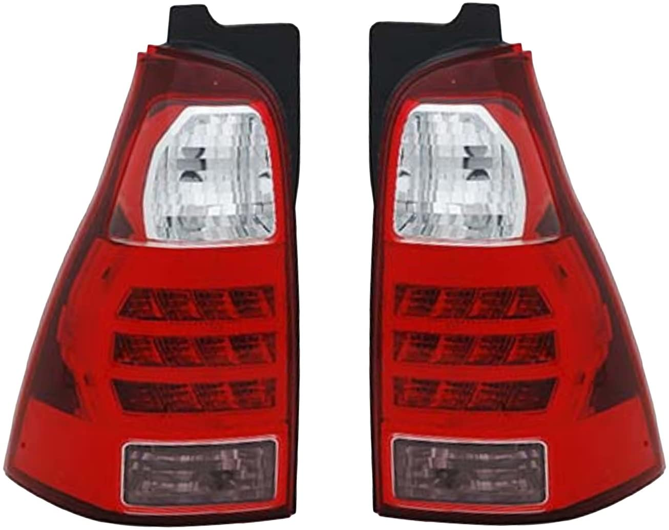 Rareelectrical NEW TAIL LIGHT PAIR COMPATIBLE WITH TOYOTA 4RUNNER 2006 2007 8156135280 TO2800172 81561-35280 TO2801172 81551-35320 8155135320