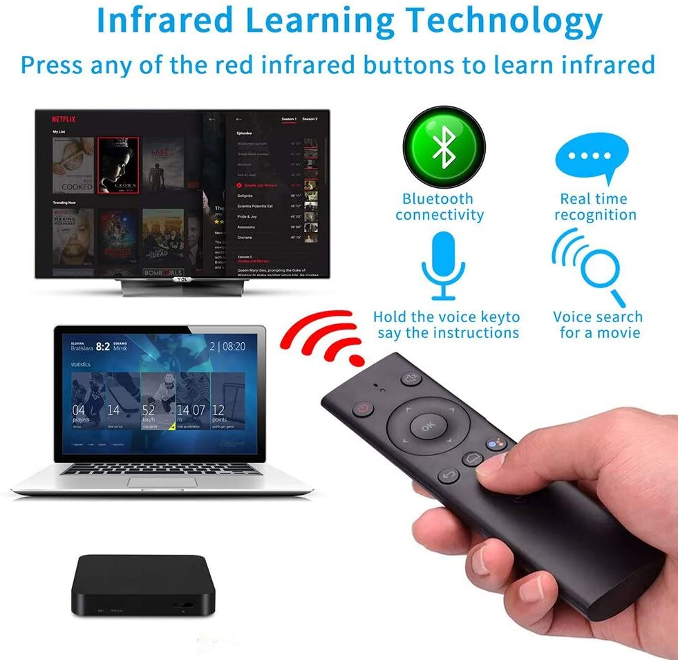 Calvas Q8 Remote Control Keyboard Air Mouse Smart TV Bluetooth Portable Home Wireless Electronic Intelligent Voice Professional