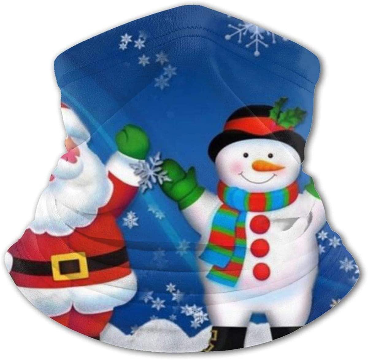 Christmas Santa Snowman Headwear For Girls And Boys, Head Wrap, Neck Gaiter, Headband, Tenn Fishing Mask, Magic Scarf, Tube Mask, Face Bandana Mask For Camping Running Cycling