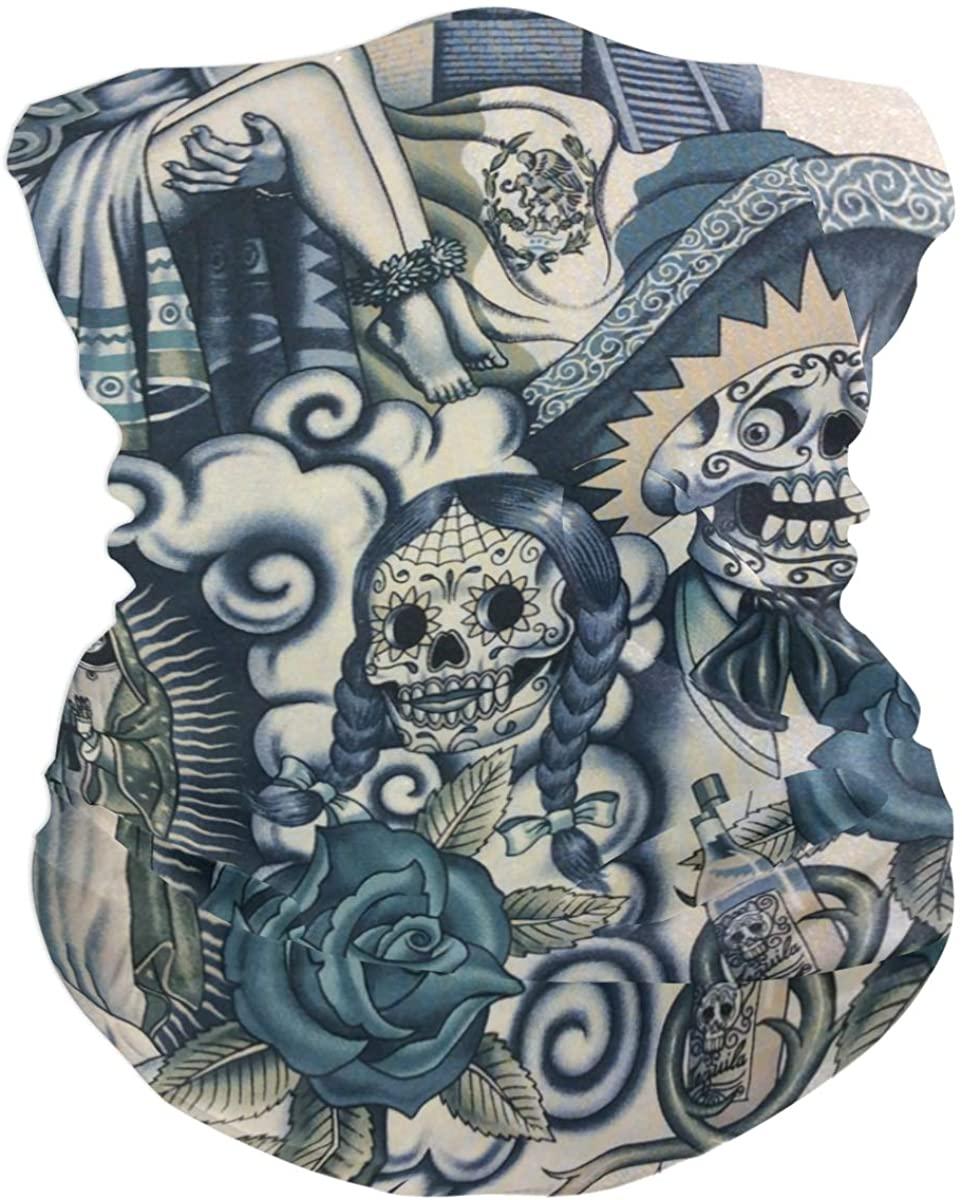 Frida Kahlo Balaclava Womens Headband Scarf Mens Versatile Bandana, Muffler, Neck Gaiter, Magic, Wristband Headwear