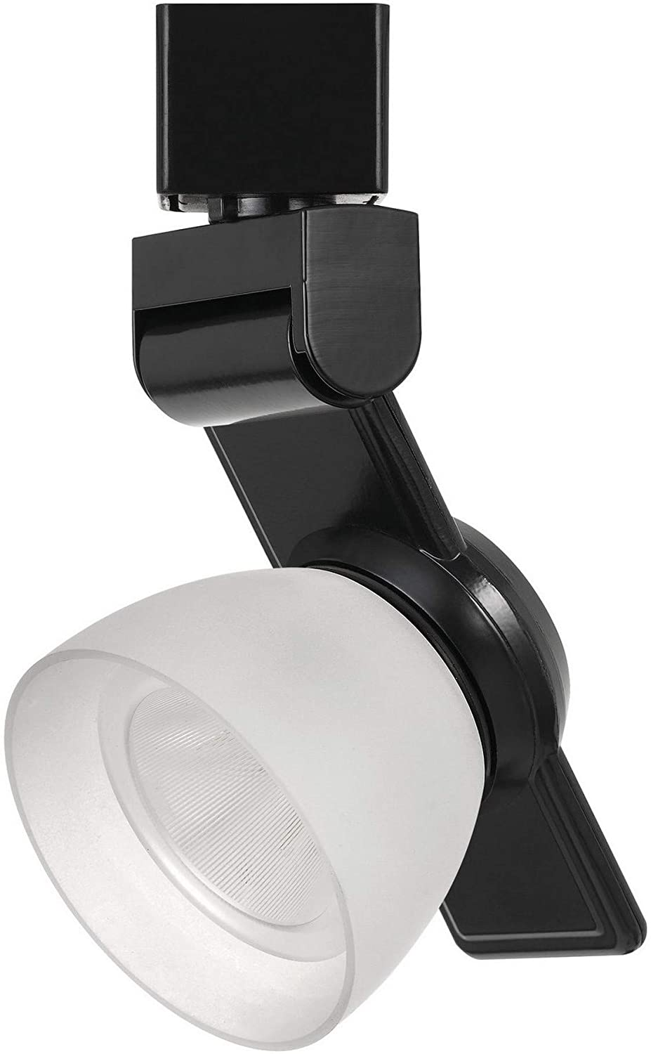 Benjara 12W Integrated LED Track Fixture with Polycarbonate Head, Black and White