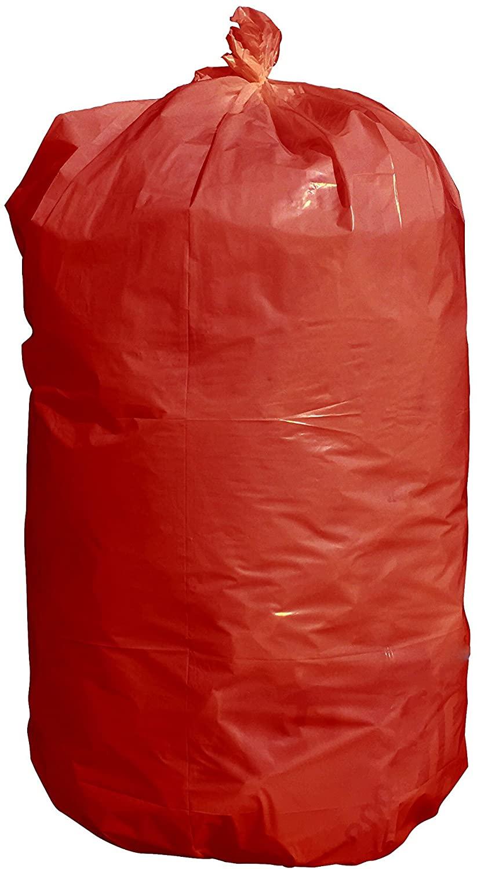 Heath USA-Made Durable Facilities Maintenance Quality Trash Bags (40-45 Gallon, Red)