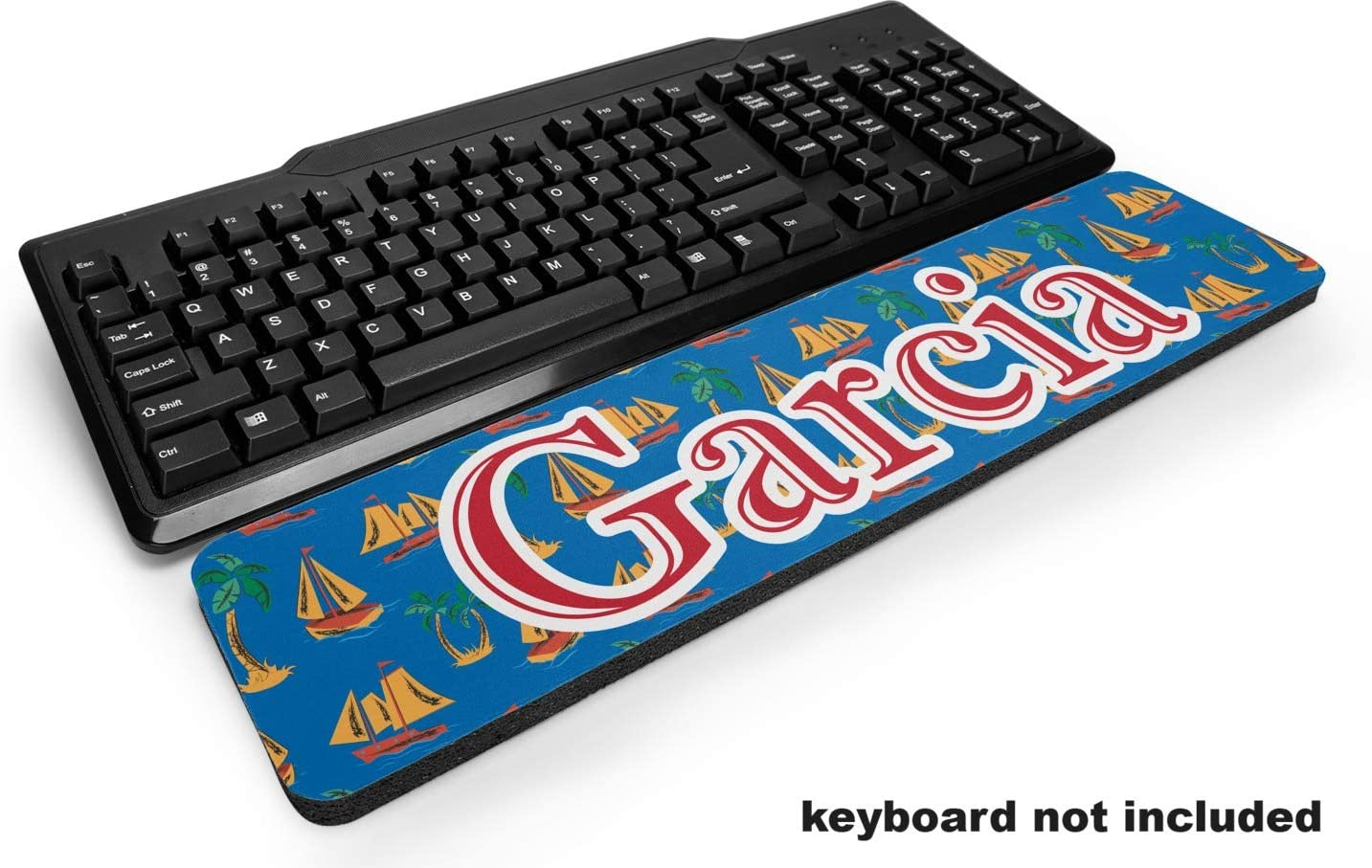 YouCustomizeIt Boats & Palm Trees Keyboard Wrist Rest (Personalized)