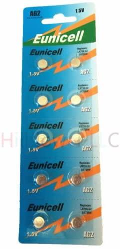 Hillflower 1000 Piece AG2 LR59 LR726 G2 396A 397 196 Card 0% Hg 1.5V Prime Alkaline New Battery