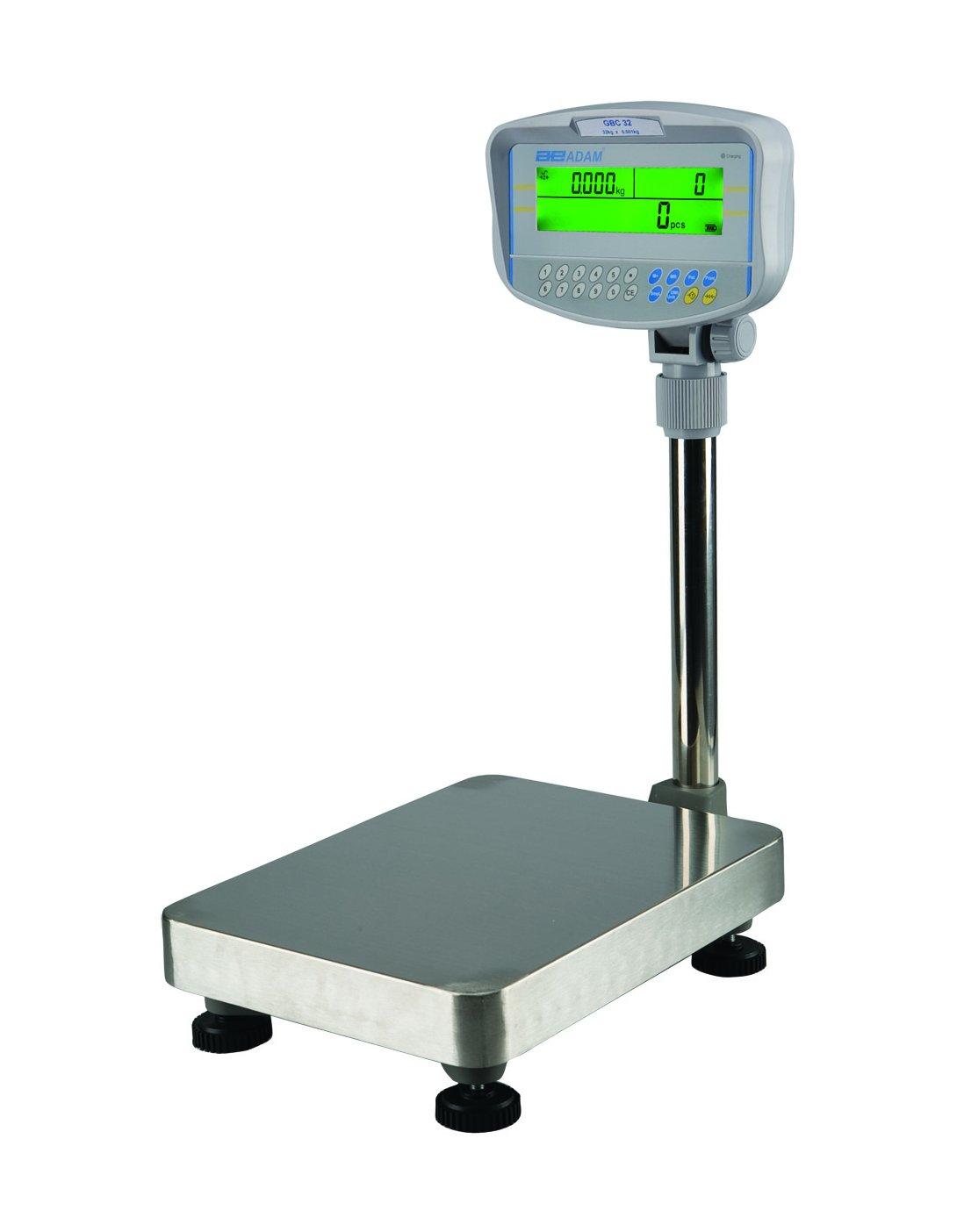 Adam Equipment GBC 70a Bench Counting Scale, 70 lb./32 kg x 0.002 lb./1 g