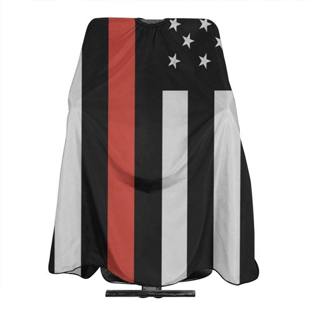 Professional Barber Cape Salon Hair Styling Cutting Haircut Aprons Red Black Thin Line American Firefighter Flag Capes For Proof Hairdresser Coloring Perming Shampoo Chemical 55
