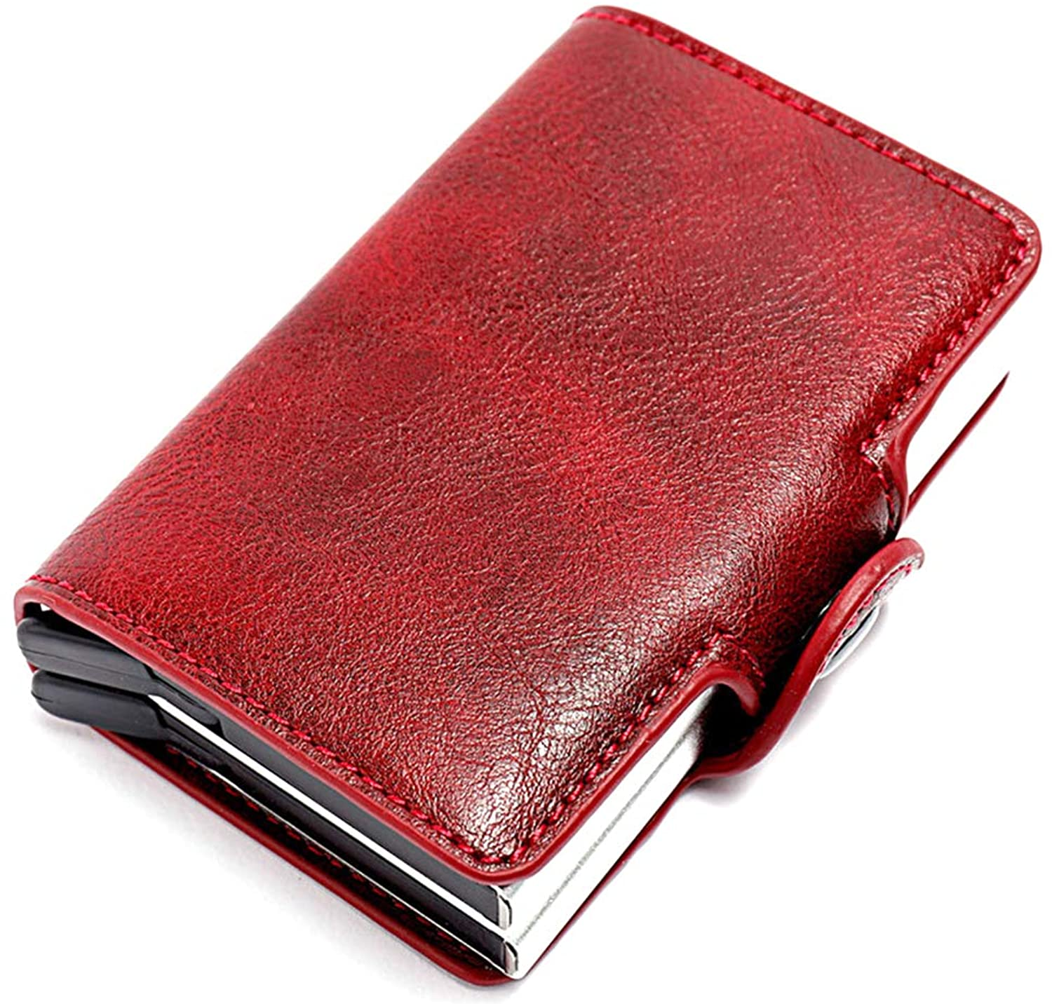 Oichy RFID Blocking Card Wallet Automatic Pop Up Wallet Aluminum Business Wallet for Men and Women Credit Card Holder