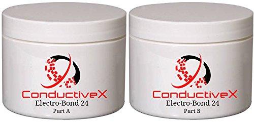 Flexible Electrically Conductive Silver High Temp Resistant Thermally Conductive Flexible Adhesive, Electro-Bond 24, 100gm kit(s)