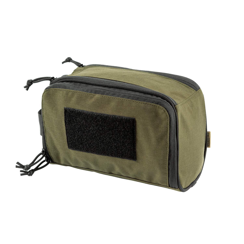 OneTigris Nylon Toiletry Bag for Men Women Travel Accessory Pouch for Grooming Shaving Gym (Ranger Green)