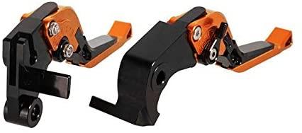 Safety Adjustable Folding Extendable CNC Motorcycle Brake Clutch Levers for Honda CBR600RR 2007-2017 CBR1000RR/Fireblade/SP 2017-2018 Durable (Color : Orange)