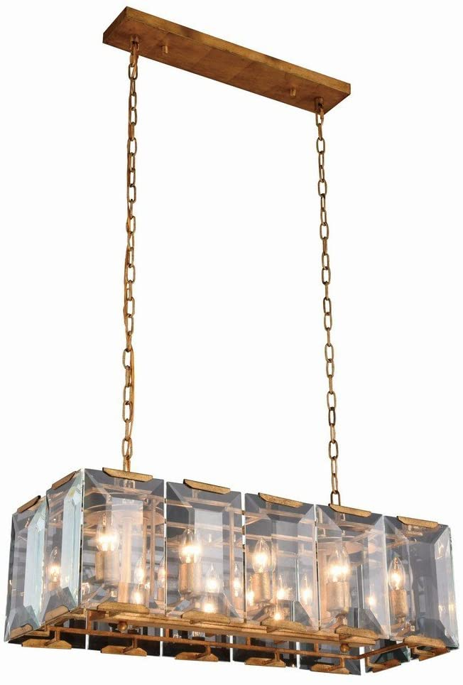 Elegant Lighting 1212D34GI Monaco Collection Pendant Lamp L34