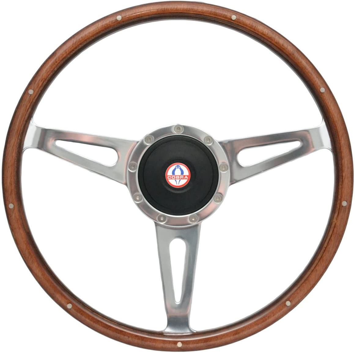 1965-1966 Mustang Shelby Style Steering Wheel w/Hub and Cobra Emblem