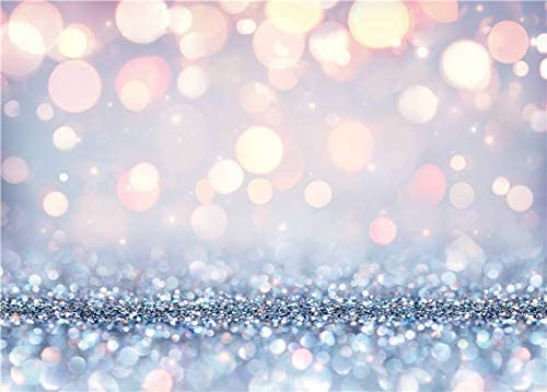 BINQOO 5x3FT Stylish Bling Bokeh(Not Glitter) Backdrop Dreamy Silvery White Spots Photography Background Baby Shower Birthday Carnival Party Newborn Children Photo