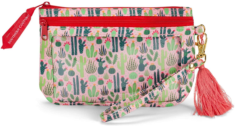 Cactus Southwest Dusty Pink and Orange 7 x 5 Polyester Phone Wristlet Handbag