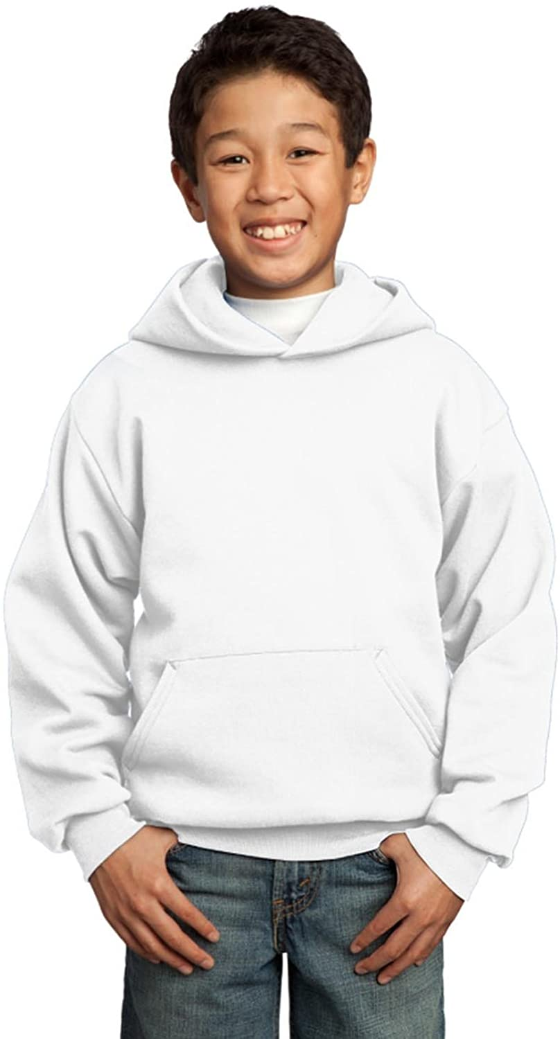 Port & Company Youth Core Fleece Pullover Hooded Sweatshirt, Many Color Options Available