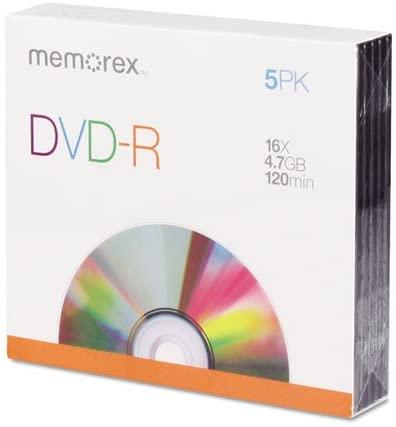 DVD-R BLANK DISC 5PK by TDK MfrPartNo 32020016096