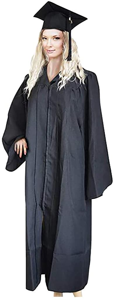 iFOMO Adult Cap Gown and Tassel Set for Graduation 2020,Lightweight Comfy Wear