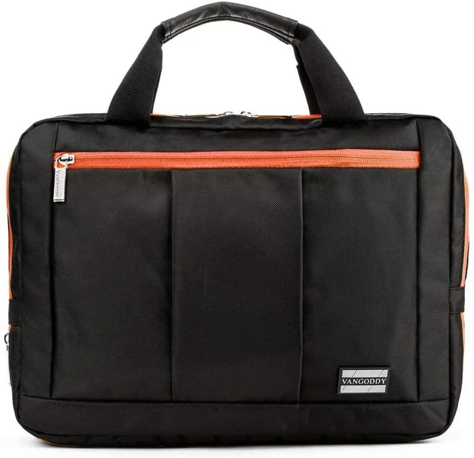 El Prado Backpack Messenger Bag for Hannspree HANNSpad Series, Tablets up to 11.5 inches (Orange)