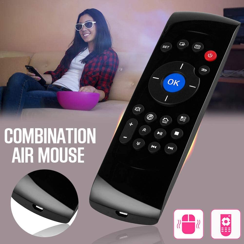 Calvas C2 2.4G Air Mouse Wireless Remote Control Keyboard Rechargeable Free 6-Axis Motion IR Sense Learning For Smart TV Android TV BOX
