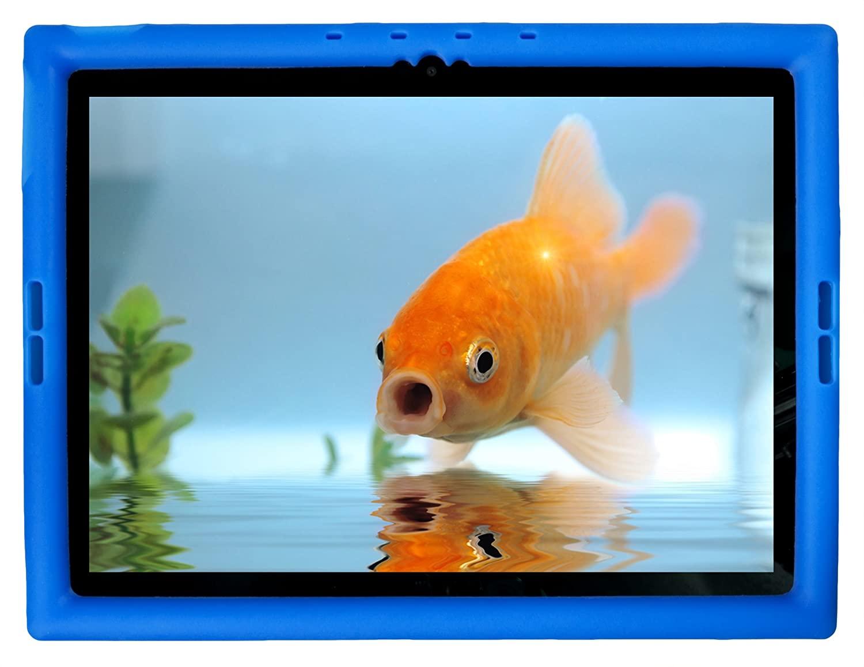 Bobj Rugged Case for Google Pixel C 10-inch Tablet - BobjGear Custom Fit - Patented Venting - Sound Amplification - BobjBounces Kid Friendly (Batfish Blue)