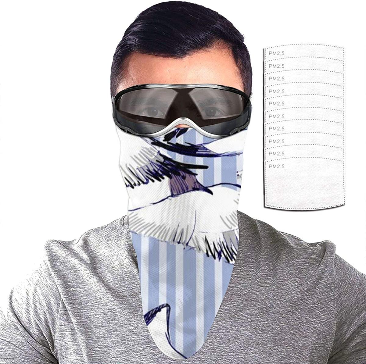 Unisex face mask Hair Scarf,face Cover Bandana Rave mask Balaclava Wind ski mask
