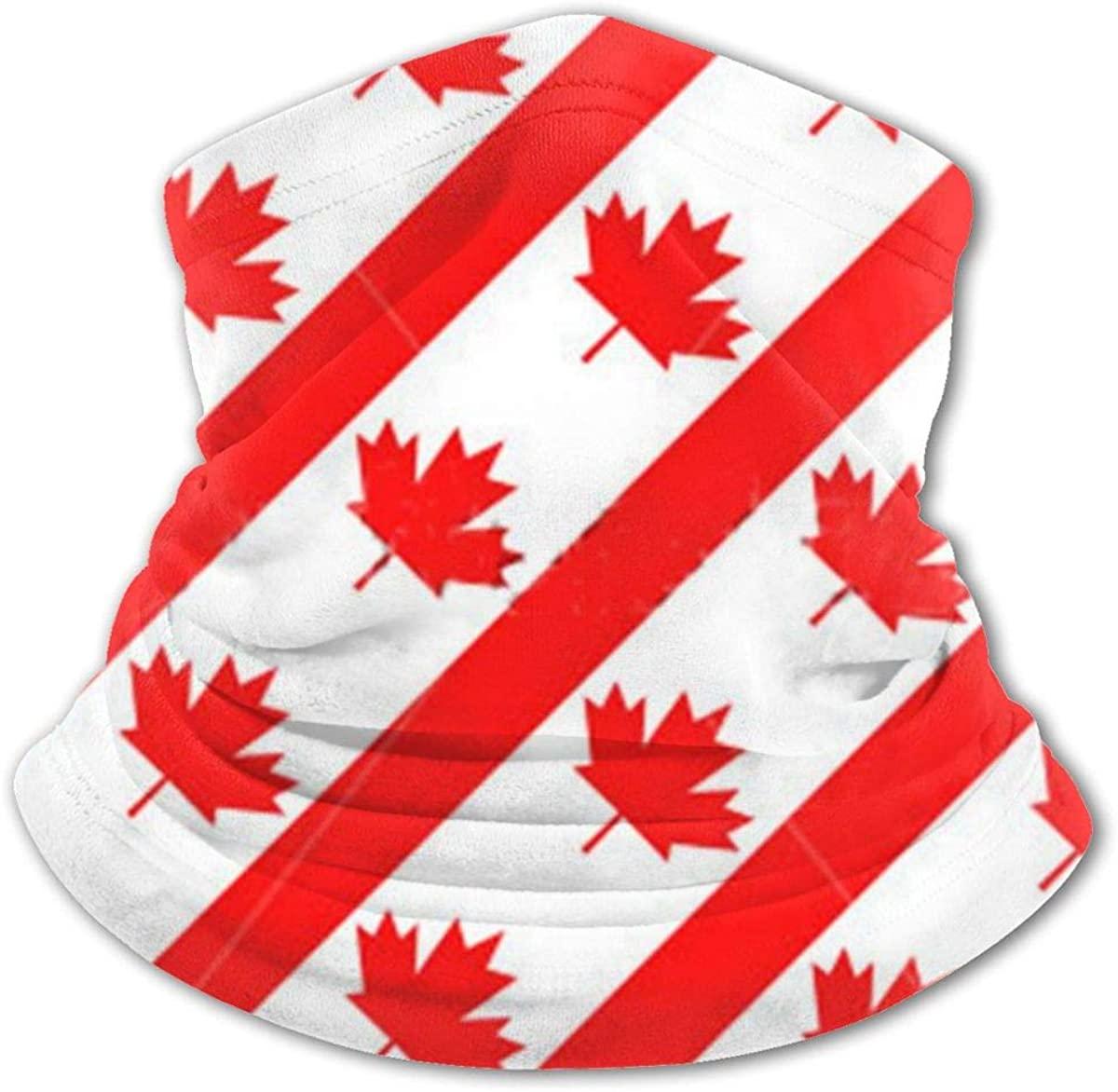 Canadian Symbol Maple Leaf Flag Headwear For Girls And Boys, Head Wrap, Neck Gaiter, Headband, Tenn Fishing Mask, Magic Scarf, Tube Mask, Face Bandana Mask For Camping Running Cycling