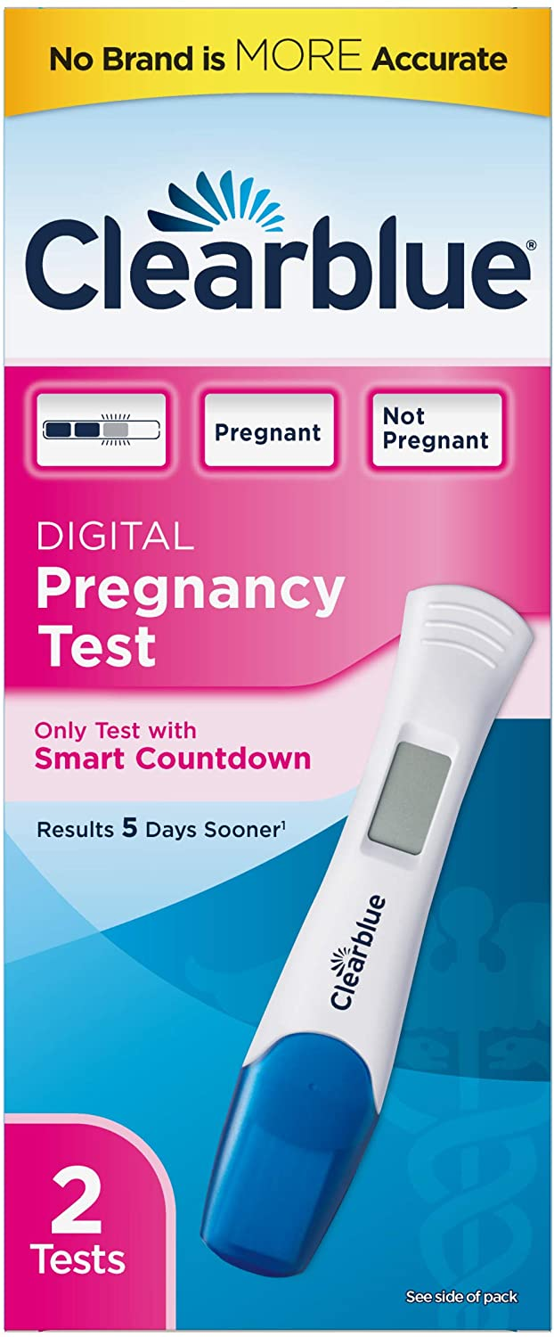 Clearblue Digital Pregnancy Tests - 2 ct, Pack of 3