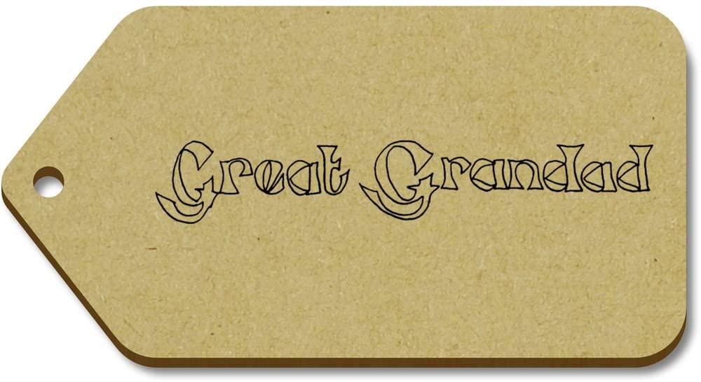 Azeeda 10 x Large 'Great Grandad' Wooden Gift Tags (TG00019534)