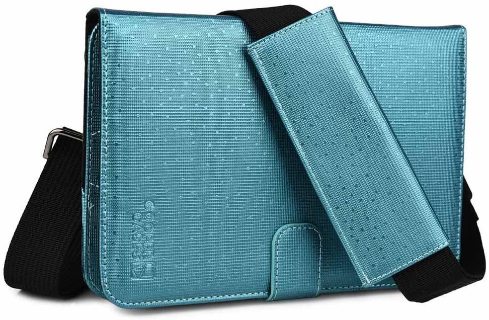 Cooper Magic Carry II Shoulder Strap Case for 7-8'' inch Tablets   Protective Tablet Folio, Adjustable Strap   Business School Travel (Blue)