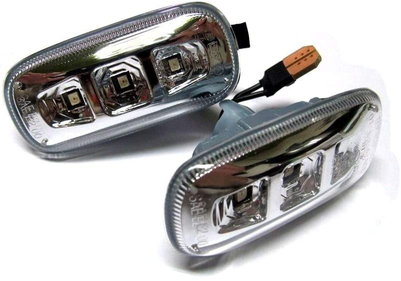 Tuning Clear Amber LED Fender Side Marker Light For AUDI A4 S4 A5 A6 A8 TT S RS (L+R)